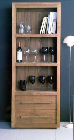 bibliotheque vitrine la maison du teck meuble et d co en teck. Black Bedroom Furniture Sets. Home Design Ideas