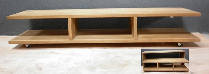 Meubles tv hifi la maison du teck meuble et d co en teck for Meuble tv avec roulettes