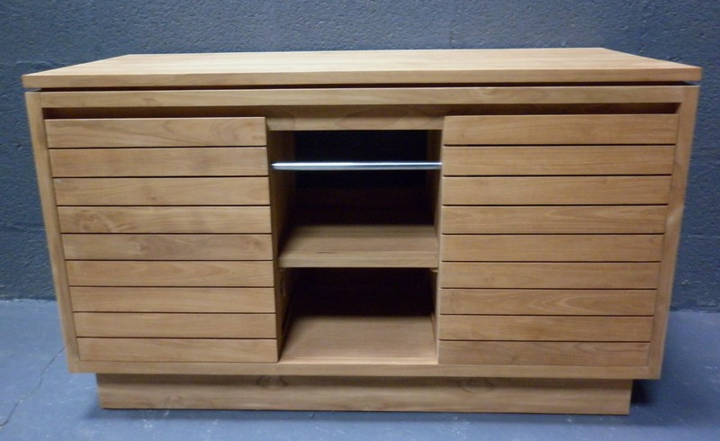Salle de bain meubles la maison du teck meuble et d co en teck - Meuble salle de bain porte coulissante ...