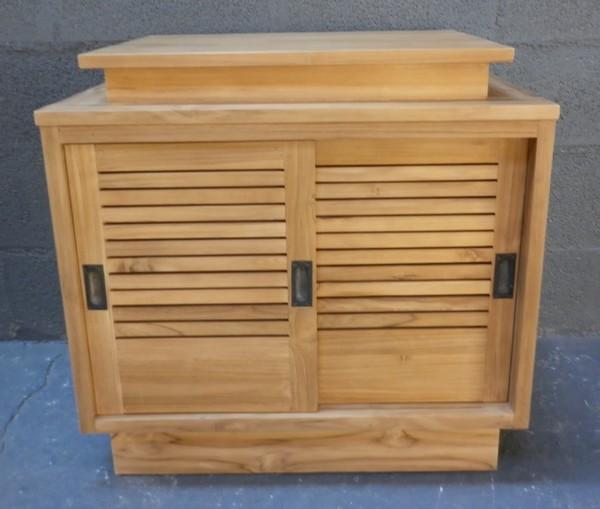 Salle de bain meubles la maison du teck meuble et d co en teck - Changer porte meuble salle de bain ...