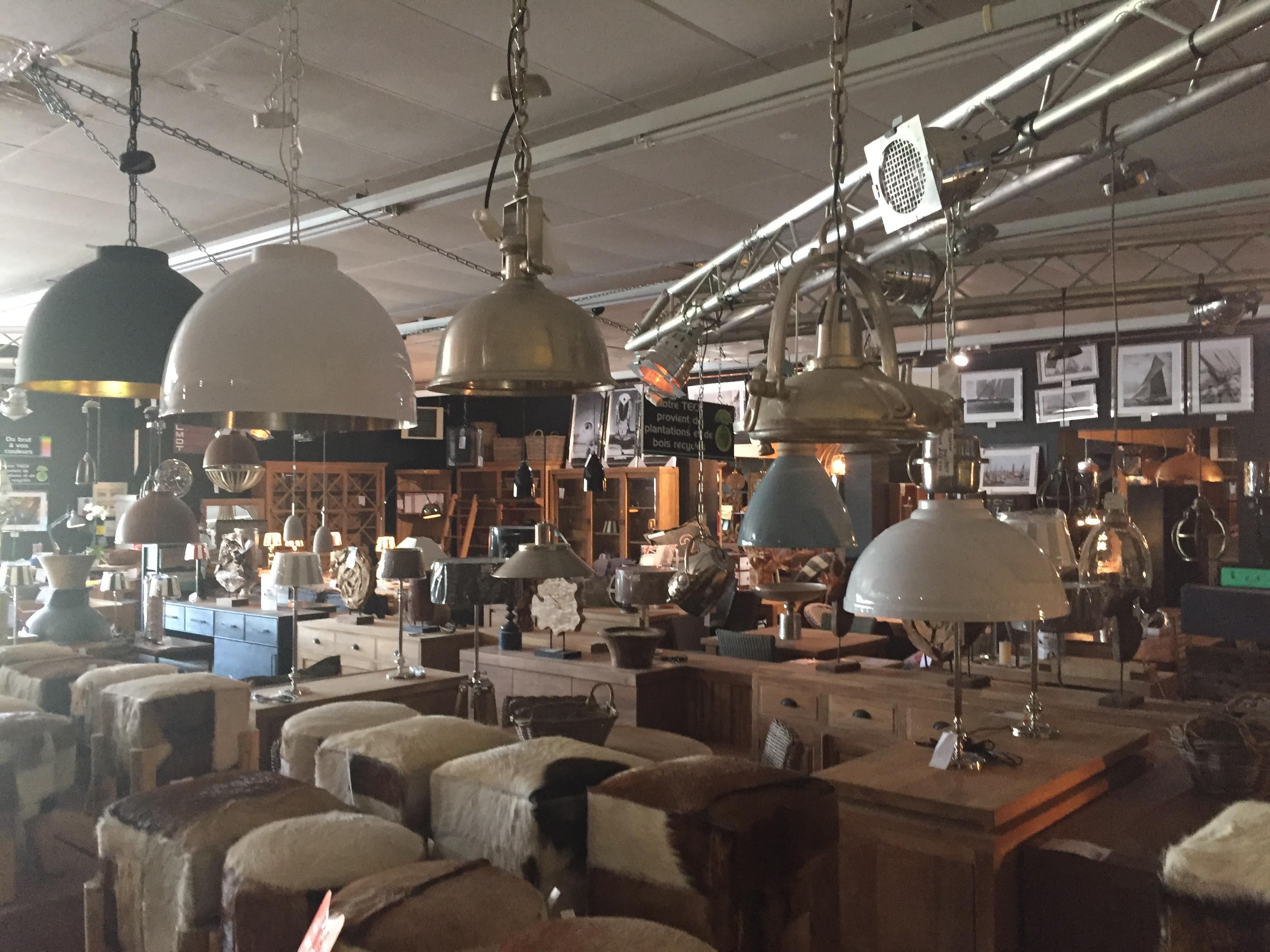 Vue d 39 ensemble luminaires et meubles - La maison du teck ...