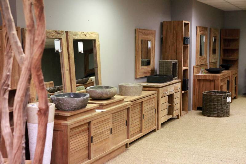Meubles salle de bain en teck for Cedeo meuble salle de bain