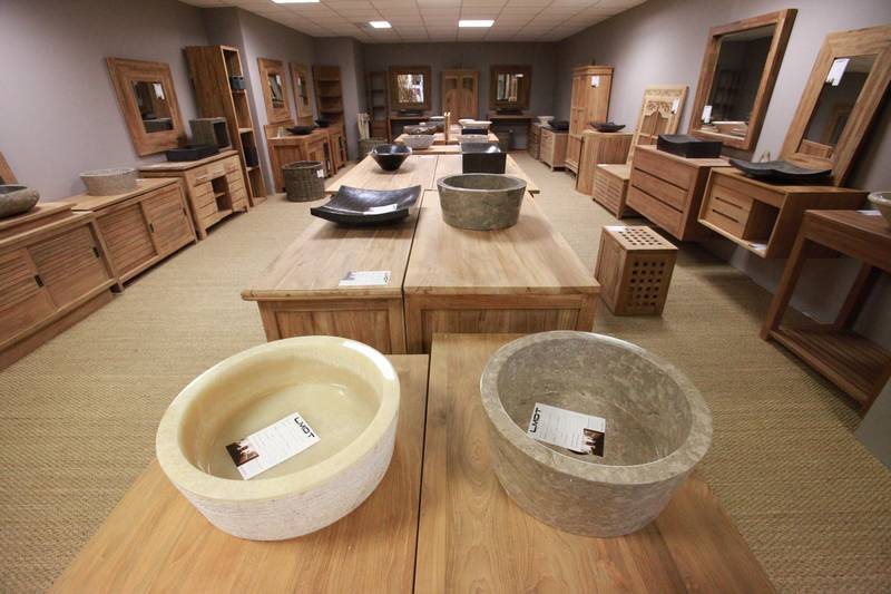 Vasque salle de bain - La maison du teck ...