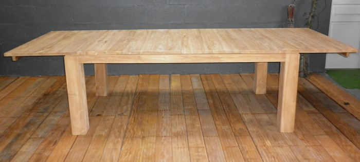 Tables a rallonges la maison du teck meuble et d co en - Prix table en teck ...