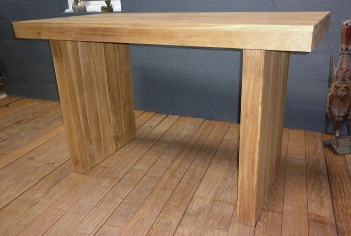 Tables hautes table en teck table haute mange debout - Table haute mange debout ...