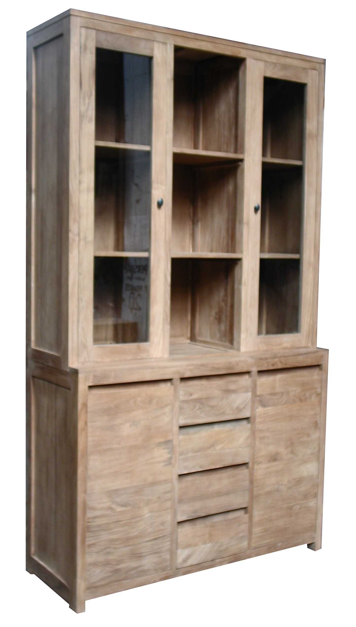 bibliotheque vitrine la maison du teck meuble et. Black Bedroom Furniture Sets. Home Design Ideas