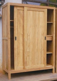 armoires armoire teck 11197 la maison du teck meuble et d co en teck. Black Bedroom Furniture Sets. Home Design Ideas